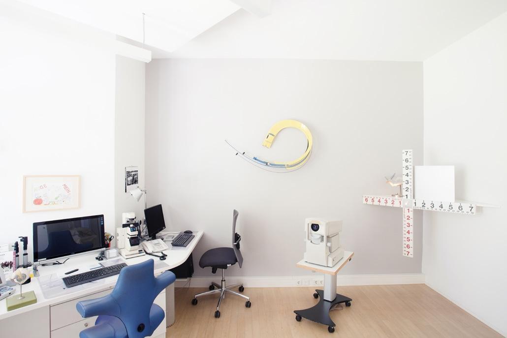 Augenarztpraxis in Baden-Baden: Blick in eines unserer Behandlungszimmer im 1. OG
