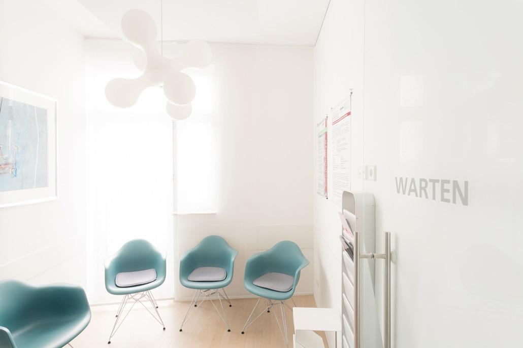 Augenarztpraxis in Baden-Baden: Blick in unser Wartezimmer im 3. OG